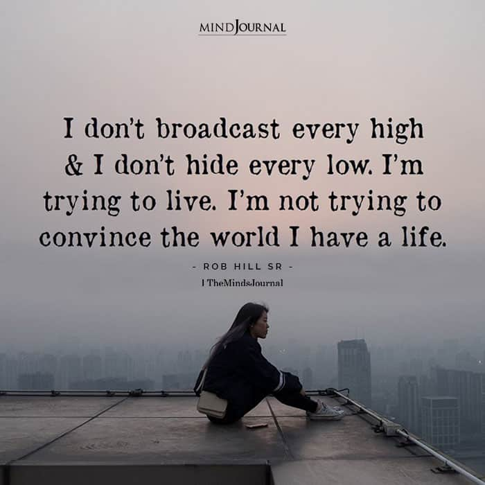 Dont Broadcast Every High