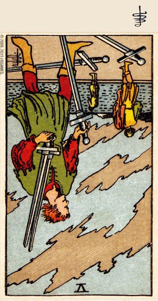 FIVE of SWORDS REVERSED