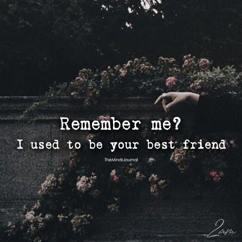 I Used To Be Your Best Friend