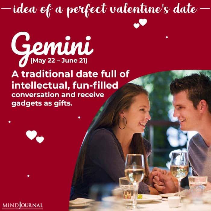 Ideal Valentines Day Date gemini