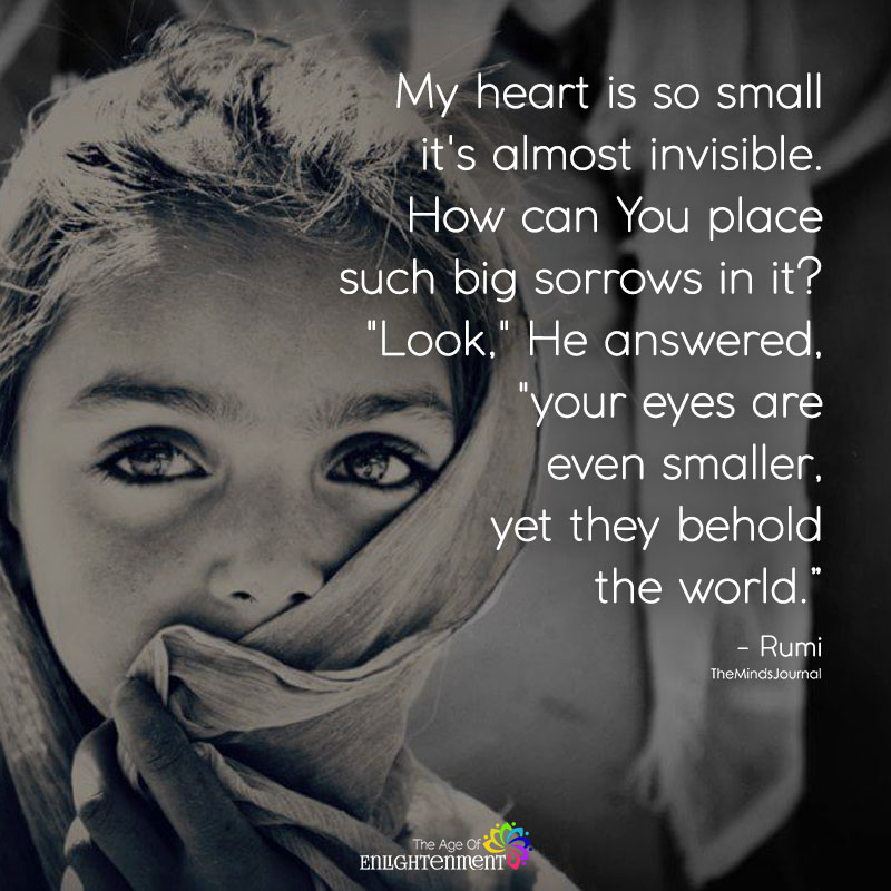 My Heart is So Small It's Almost Invisible