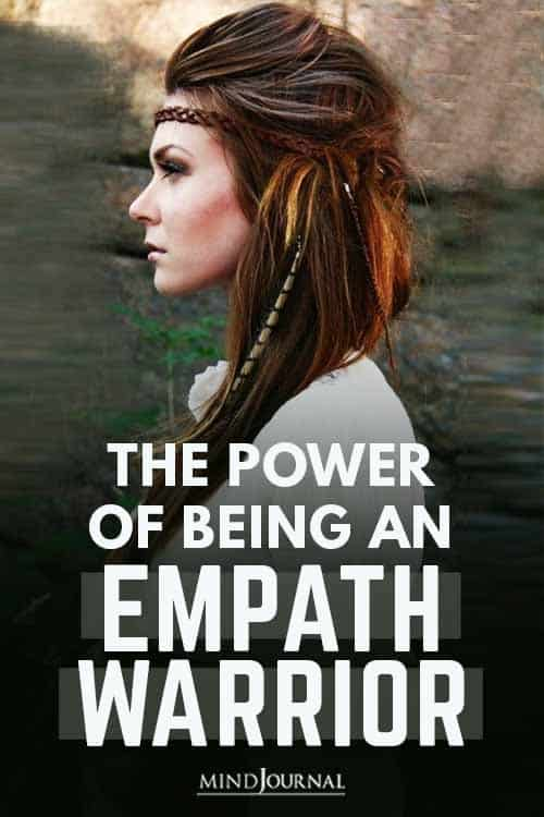 Power of Being Empath Warrior Pin
