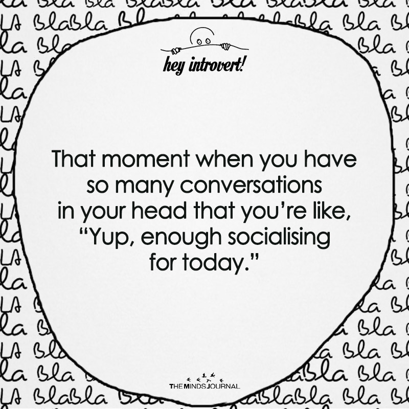 The Moment When You have So Many Conversations