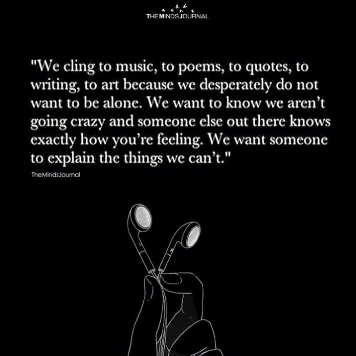 We Cling To Music, To Poems