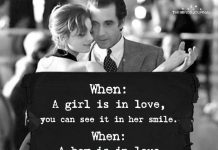 When A Girl Is In Love, You Can See It In Her Smile