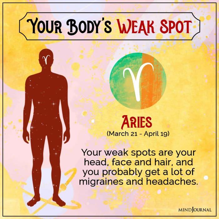 body weak spot aries