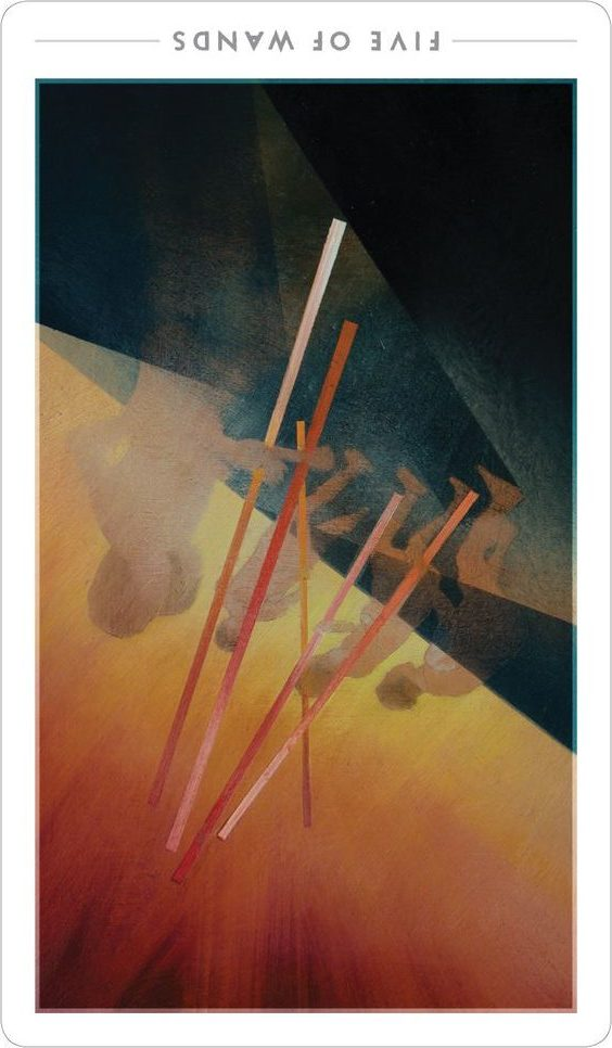 FIVE of WANDS