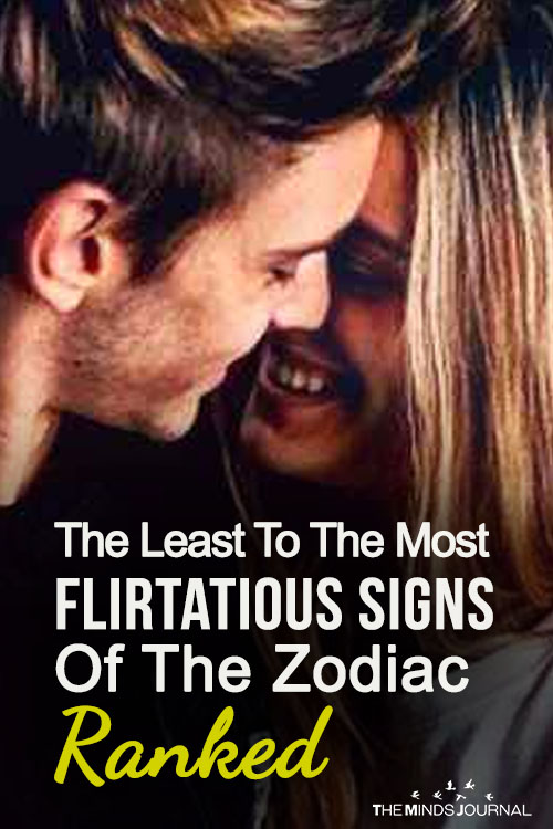 The Least To The Most Flirtatious Signs Of The Zodiac Ranked