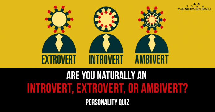 Are You Naturally An Introvert Extrovert Or Ambivert.