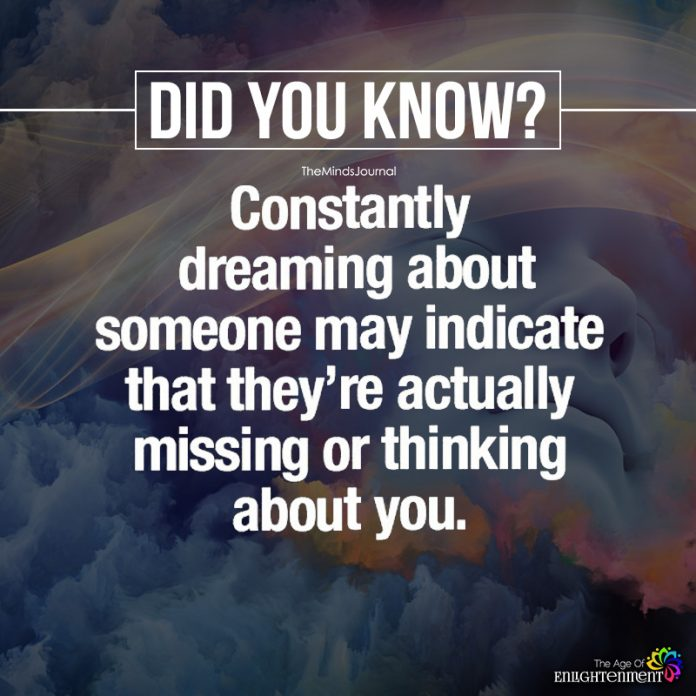 Constantly Dreaming About Someone