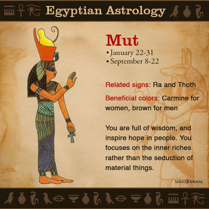 Egyptian Astrology zodic sign mut