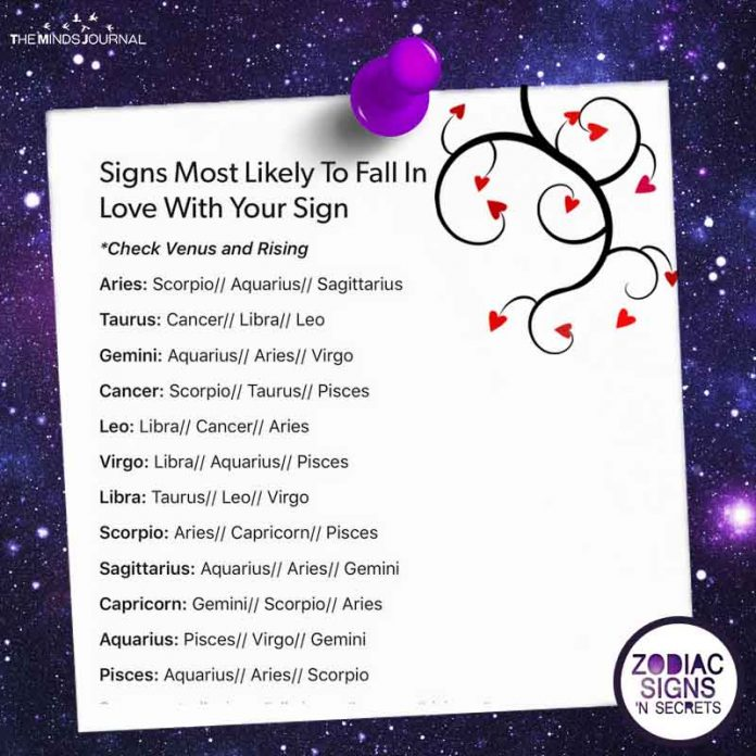 Signs Most Likely To Fall In Love With Your Sign