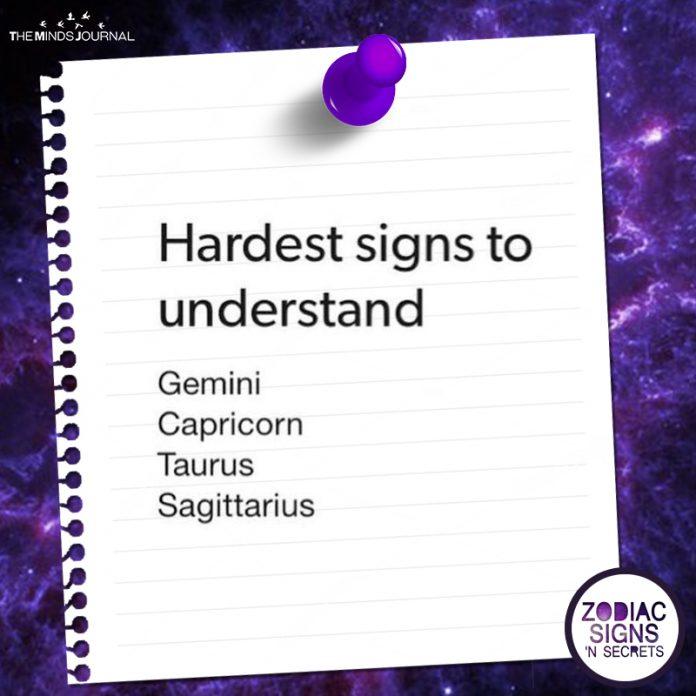 Hardest Signs To Understand