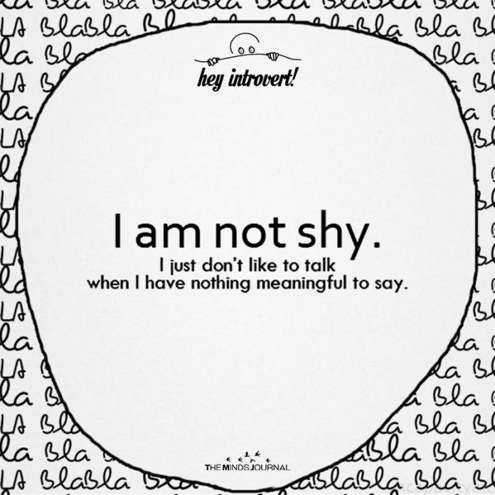 I Am Not Shy