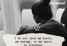 I Do Not Open My Heart