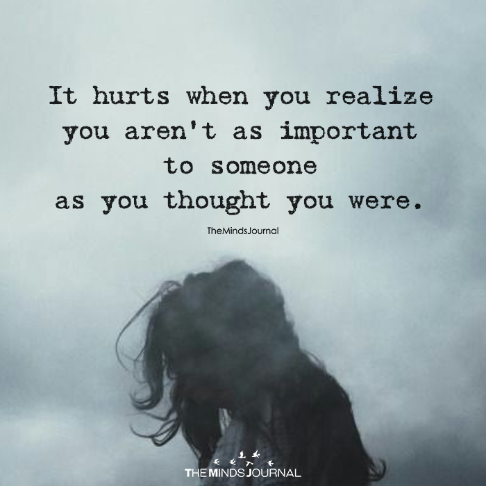 It Hurts When You Realize