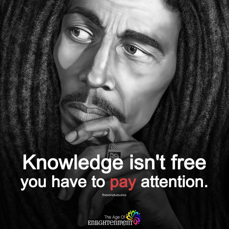 Knowledge Isn't Free