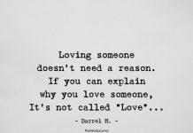 Loving Someone Doesn't Need A Reason