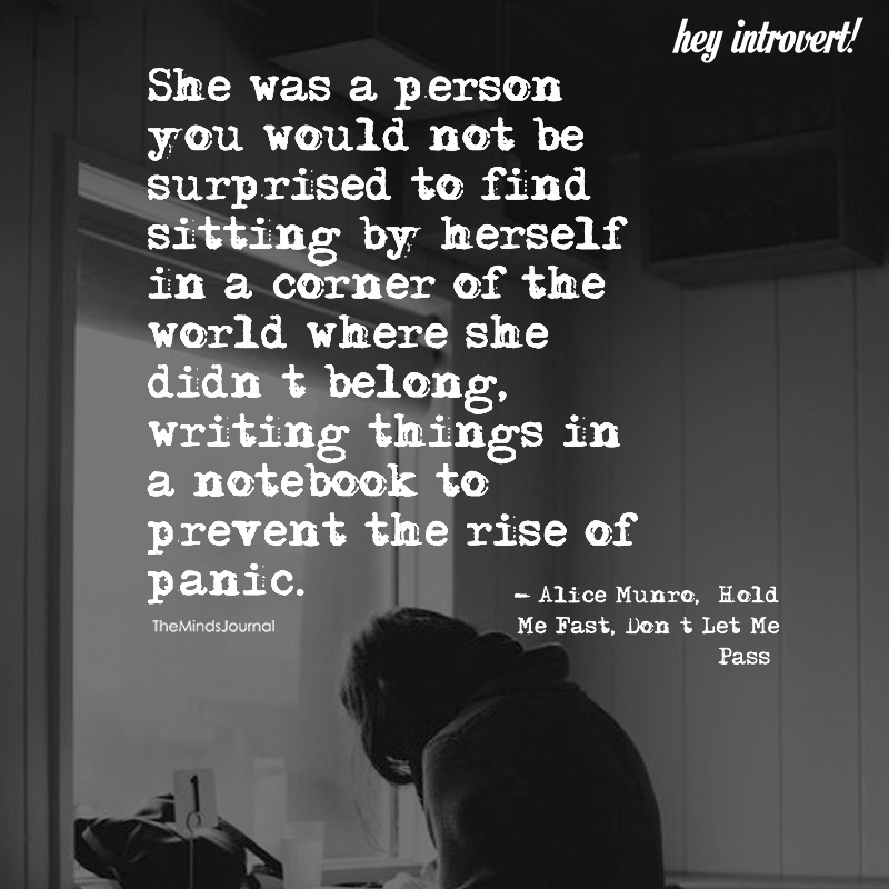 She Was A Person You Would Not Be Surprised To Find Sitting By Herself