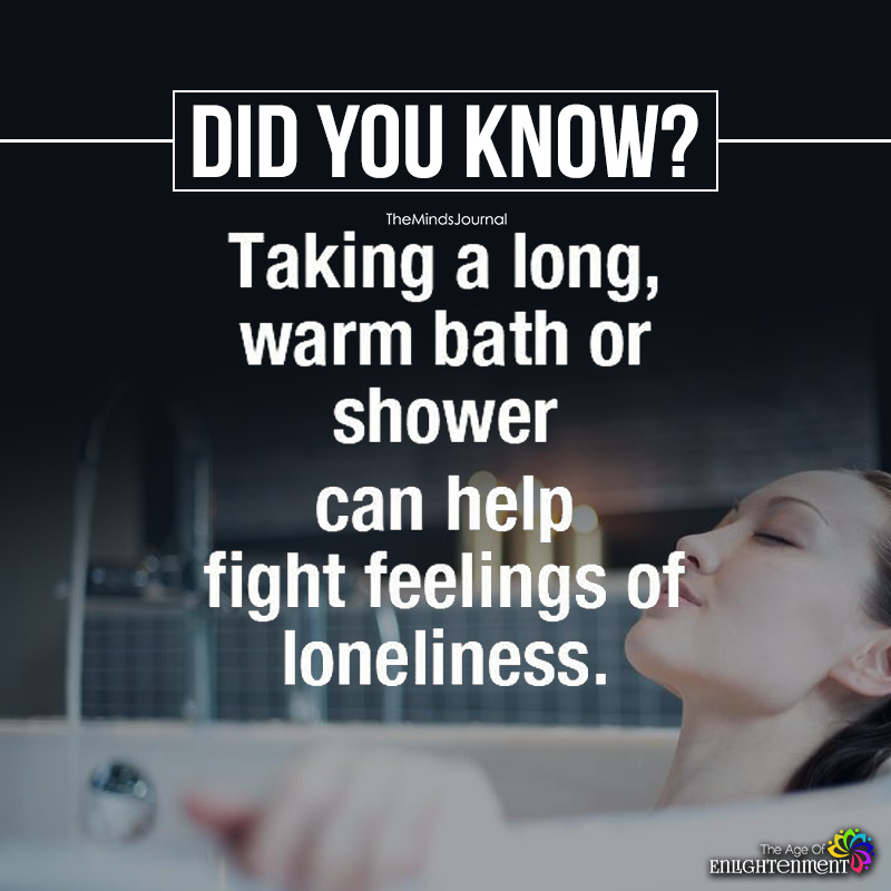 Taking A Long Warm Bath Or Shower