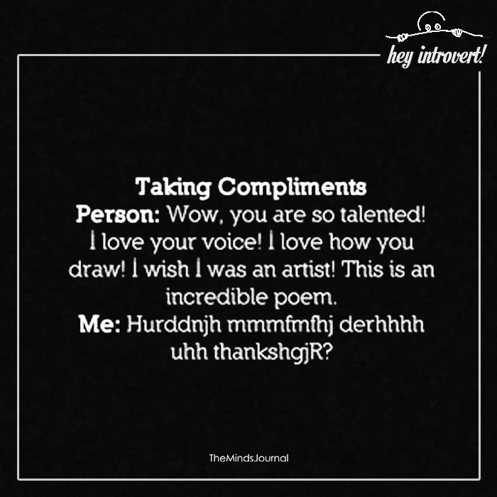 Taking Compliments