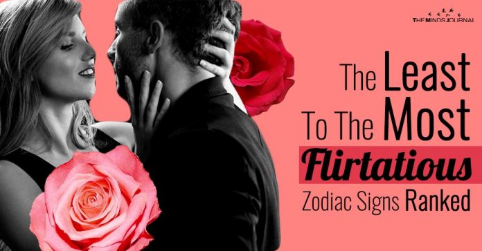 The Least To The Most Flirtatious Zodiac Signs Ranked