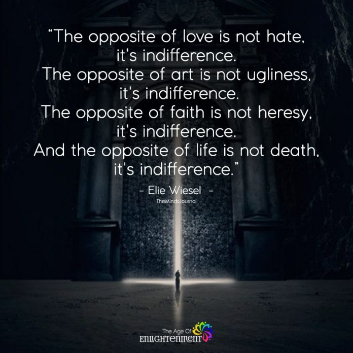 The Opposite of Love Isn't Hate
