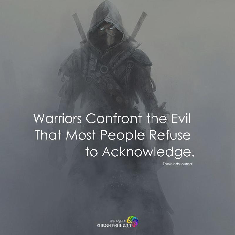 Warriors Confront The Evil