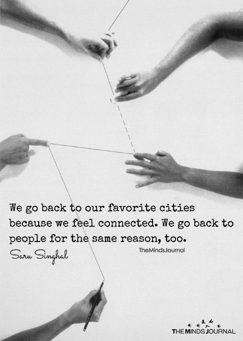 We Go Back To Favorite Cities