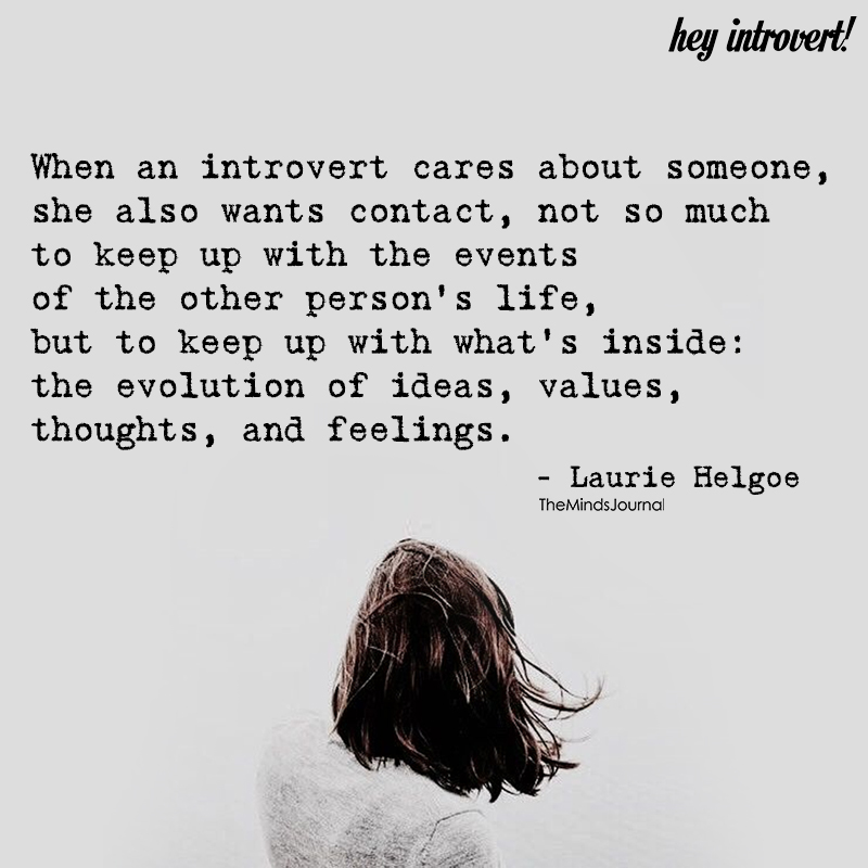 When An Introvert Cares About Someone