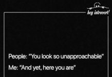 People 'You Look So Unapproachable