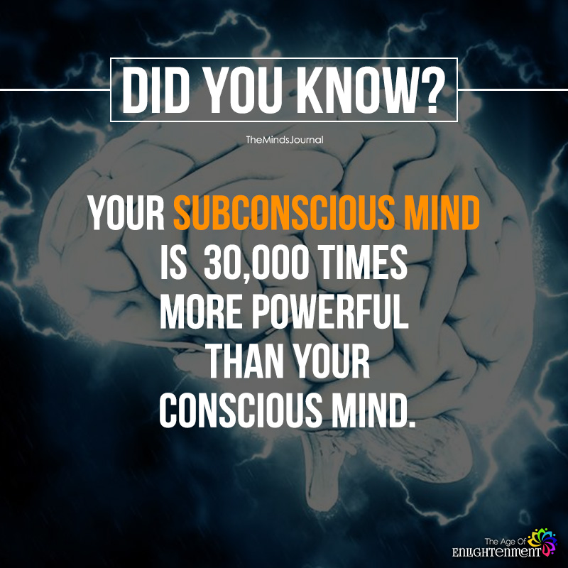 Your Subconscious Mind Is 30,000 Times More Powerful