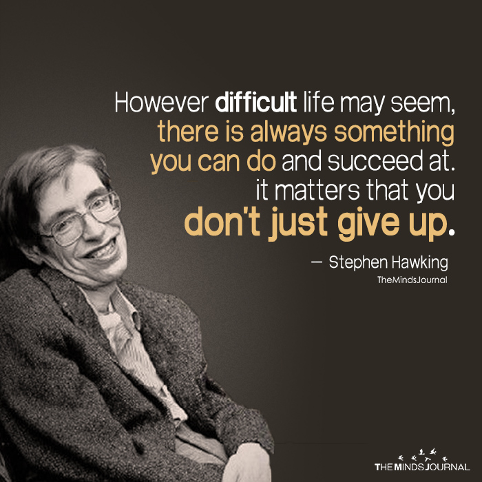 stephen hawking quotes about life