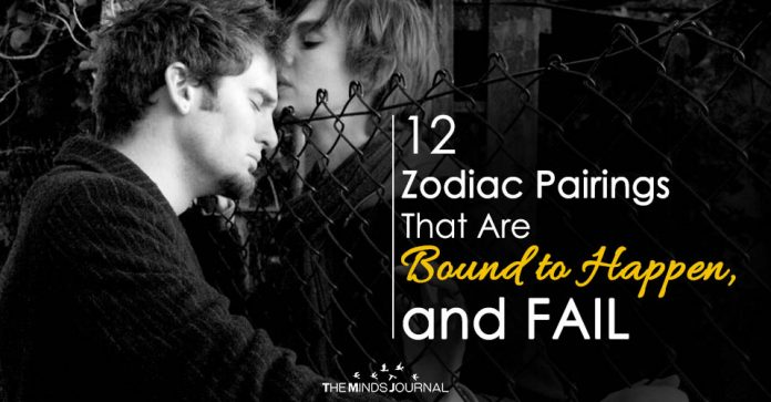 12 Zodiac Pairings That Are Bound to Happen, and FAIL