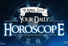 Your Daily Predictions for Thursday, 19 April 2018