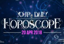 Your Daily Predictions for Friday, 20 April 2018