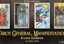 Tarot General, Manifestation And Love Guidance For Saturday (21 April 2018)