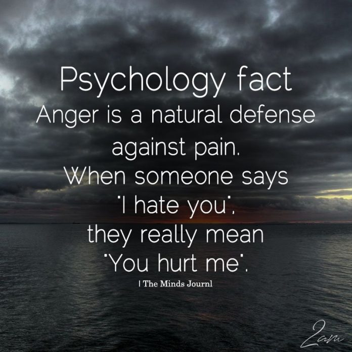 Anger Is A Natural Defense Against Pain