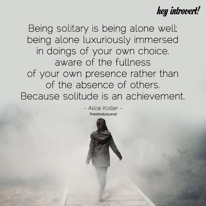 Being Solitary Is Being Alone Well