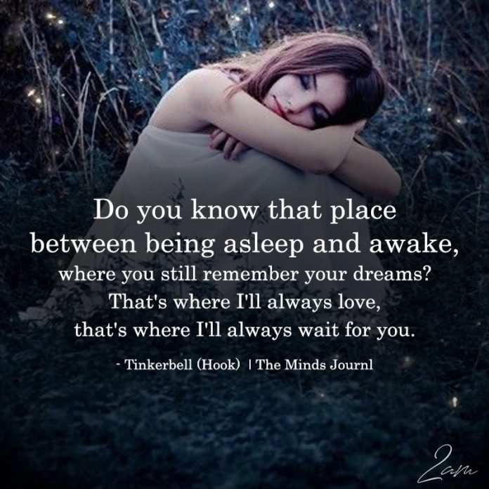 Do You Know That Between Being Asleep And Awake