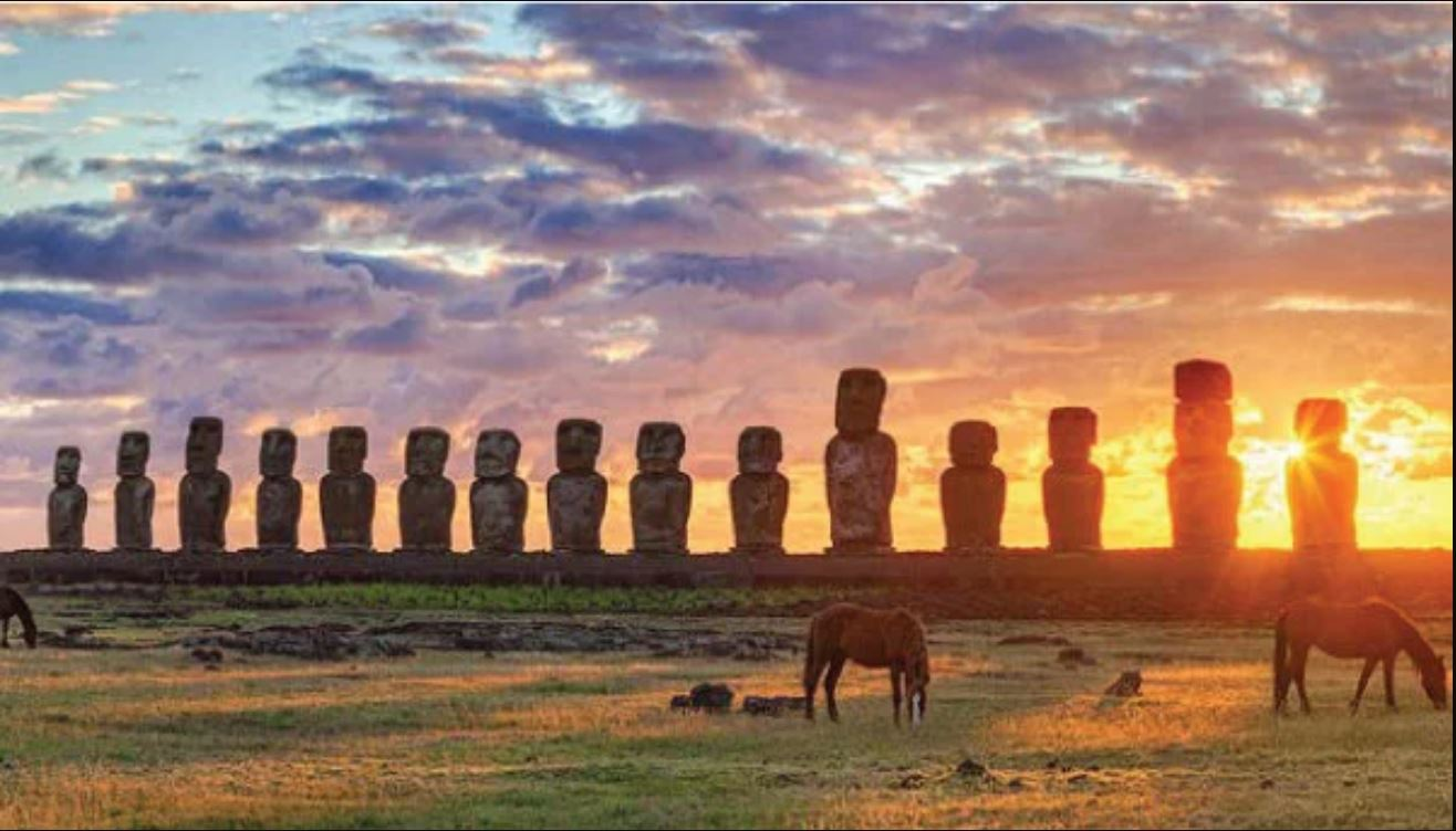 Easter Island Pacific Ocean statues