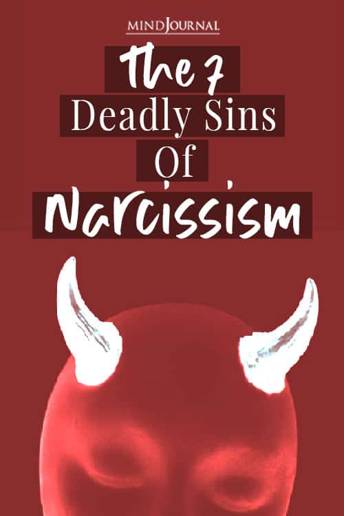 Deadly Sins Of Narcissism Pin