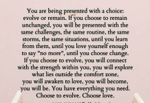 You Are Being Presented With A Choice Evolve Or Remain