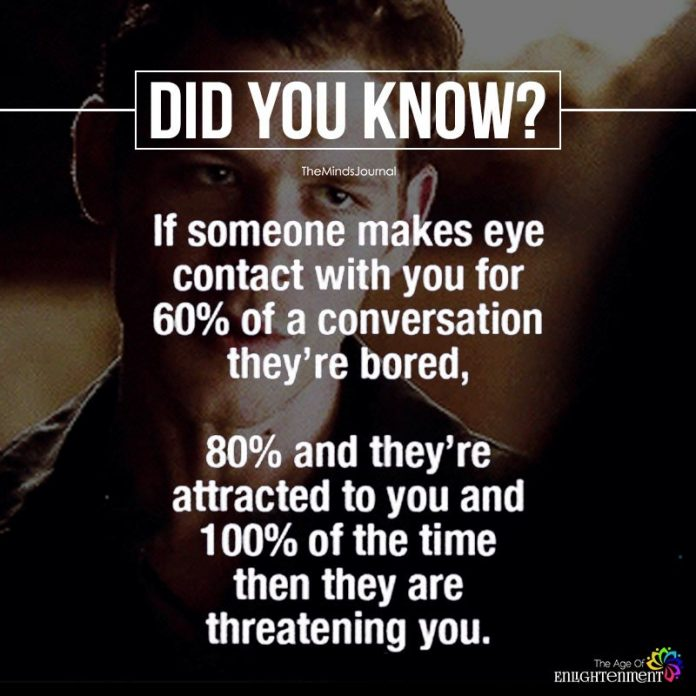 If Someone Makes Eye Contact With You