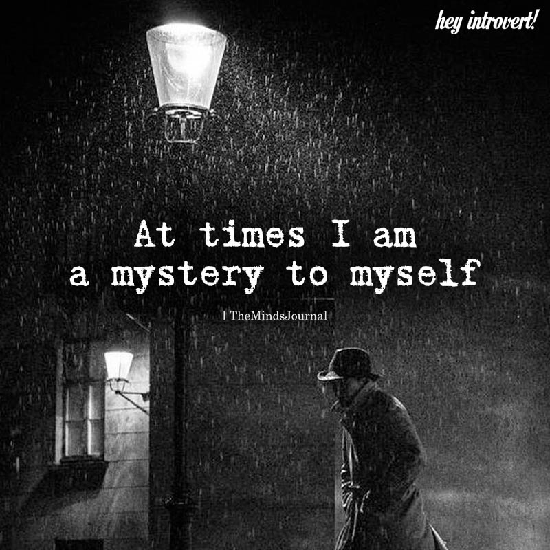 At Times I Am A Mystery To Myself
