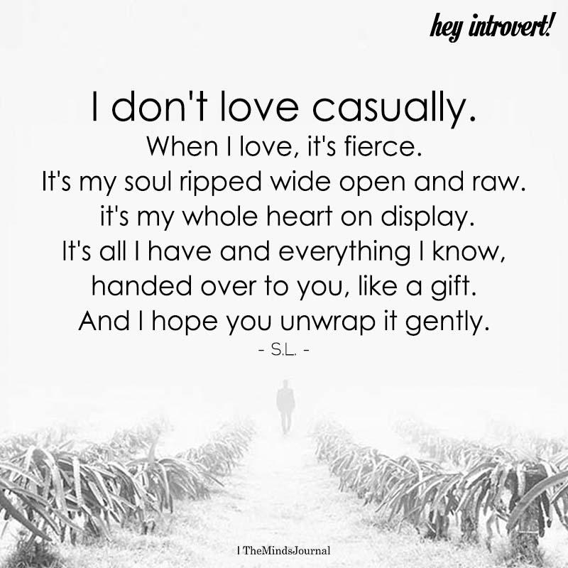 I Don't Love Casually