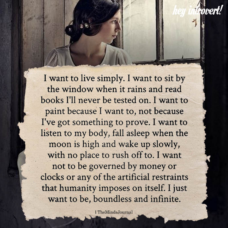 I Want To Live Simply