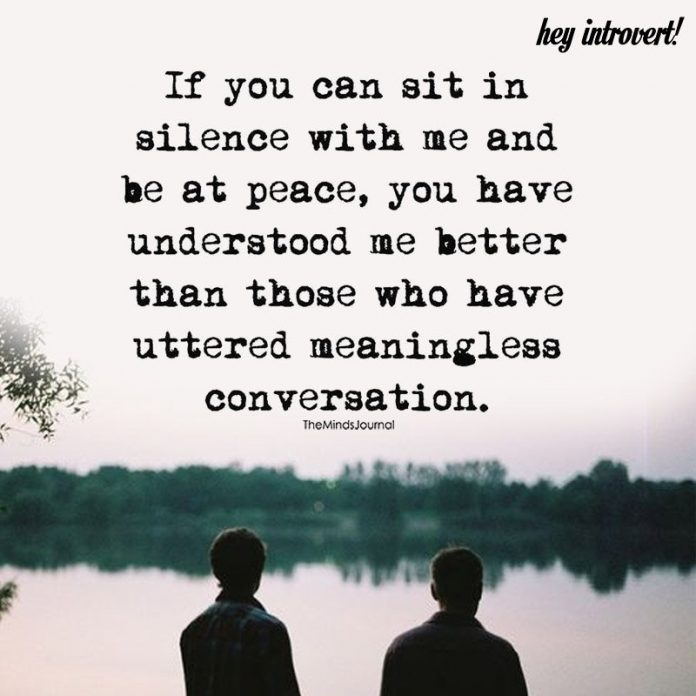 If You Can Sit In Silence With Me