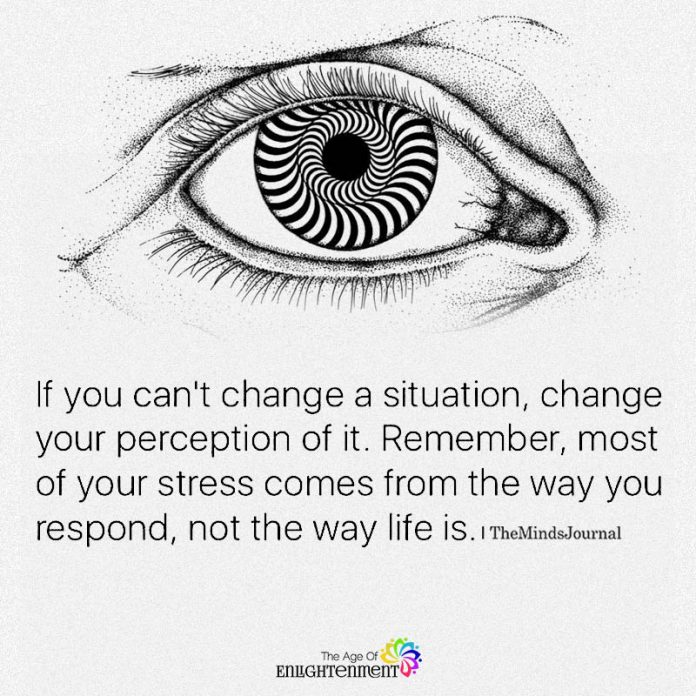 If You Can't Change A Situation, Change Your Perception Of It