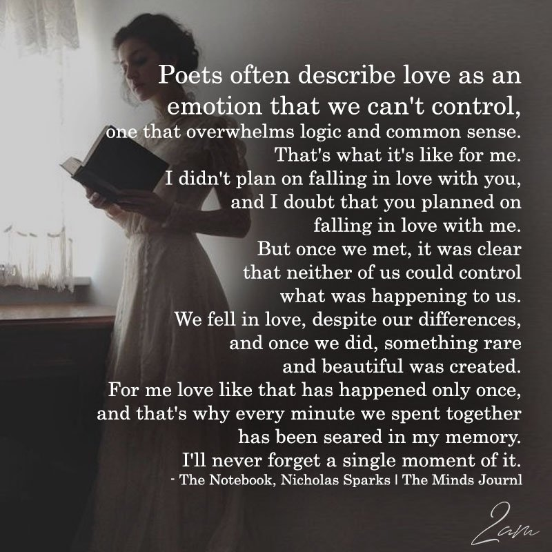 Poets Often Describe Love As An Emotion That We Can't Control